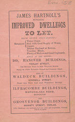 Advert For James Hartnoll's Buildings To Let